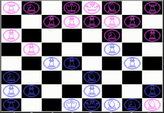 DOS user inteface of chess game